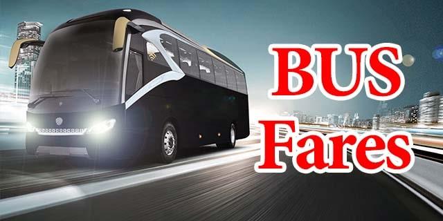 bus fares in pakistan